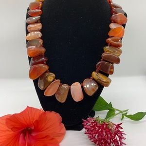 Beautiful Agate stone necklace by JBJ